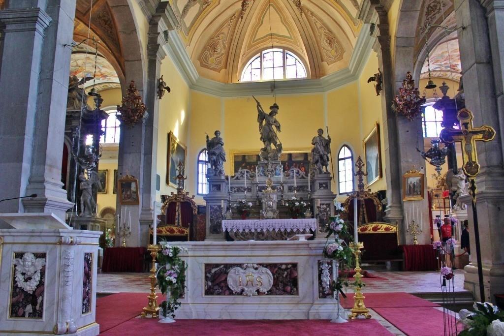 The main altar at St. Euphemia Church in Rovinj, Croatia.