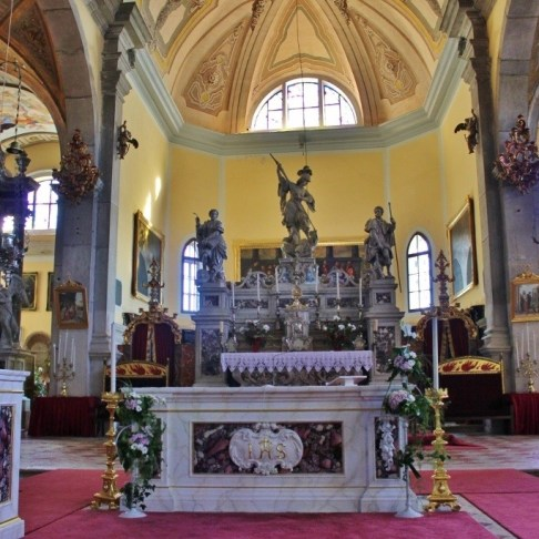 The main altar at St. Euphemia Church in Rovinj, Croatia.