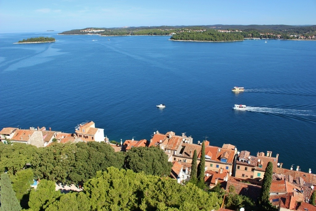 We could see the coastline extend north of Rovinj from the St. Euphemia Church bell tower