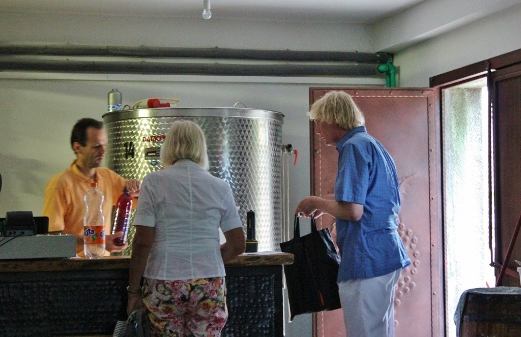 The highlight of our Rovinj Wine Walk was learning we could get liter bottles filled with wine for just 18 kuna