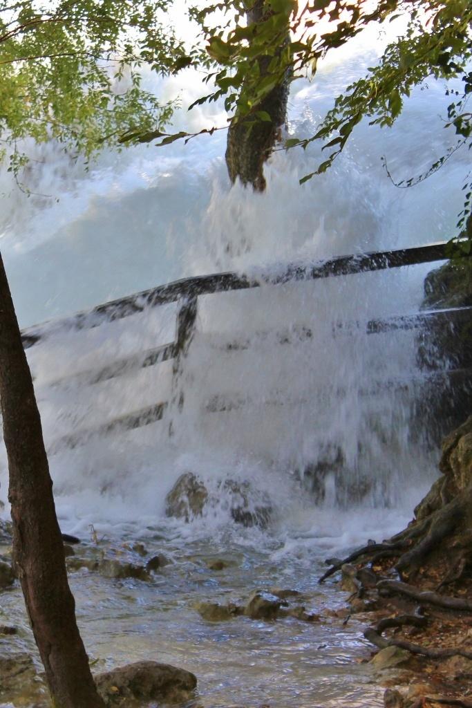 Water crashing over the bank at Krka National Park
