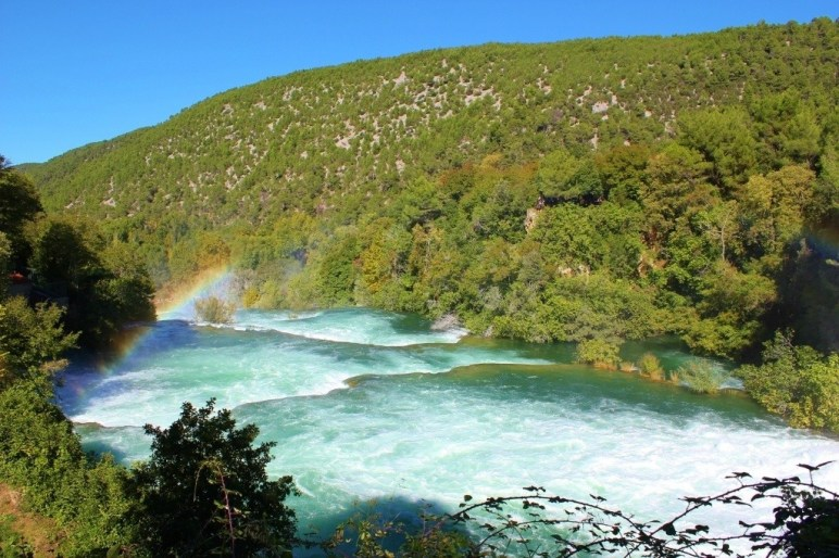Rainbow over Krka National Park