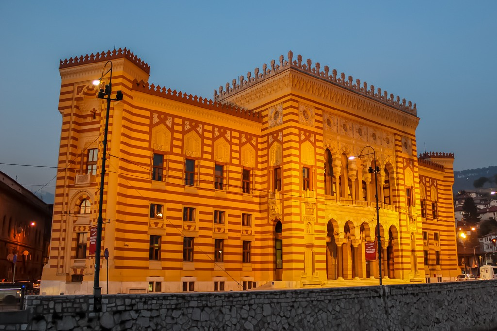 City Hall and Library in Sarajevo, Bosnia and Herzegovina