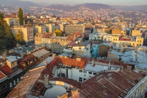 City rooftops in Sarajevo, BIH
