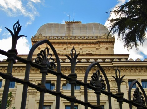 Great Synagogue of Rome in Jewish Quarter in Rome, Italy