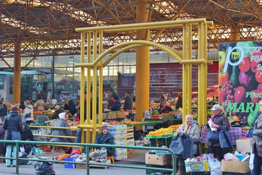 Produce Market in Sarajevo, BIH