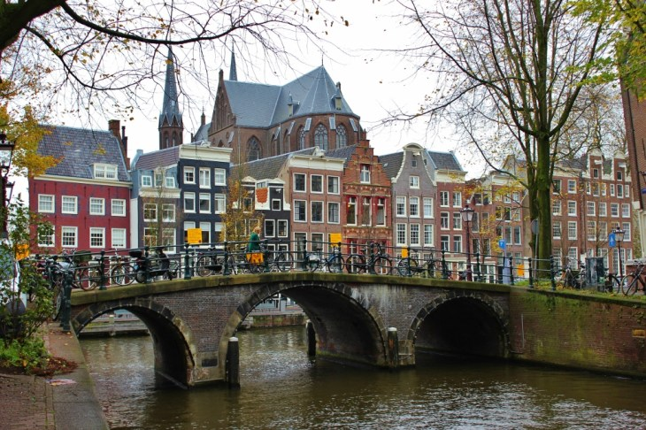 Amsterdam, Holland, Netherlands Bridge over Canal JetSettingFools.com
