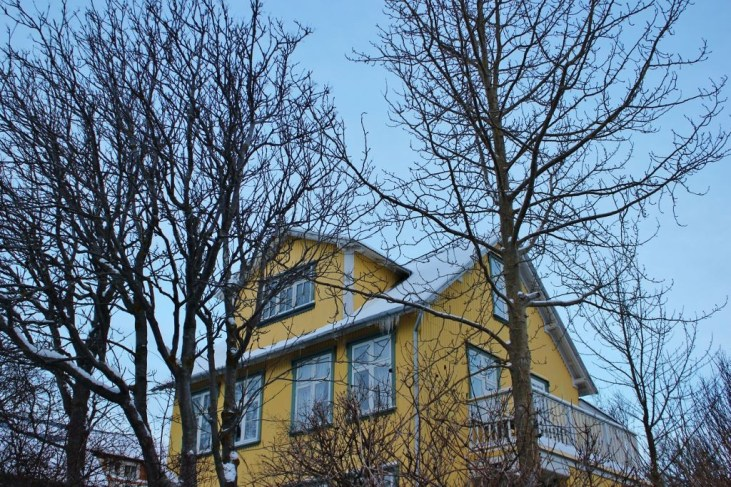 Neighborhoods in Iceland in Wintertime Colorful House in Rocky Village Reykjavik JetSettingFools