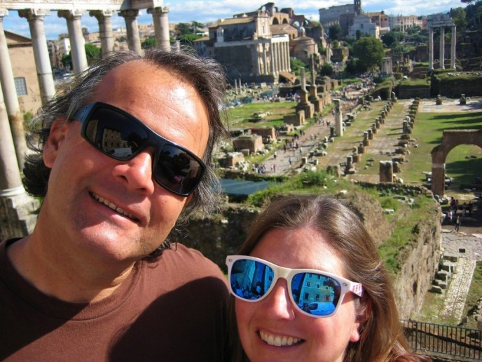 JetSetting Fools Sarah and Kris touring Rome Italy Forum