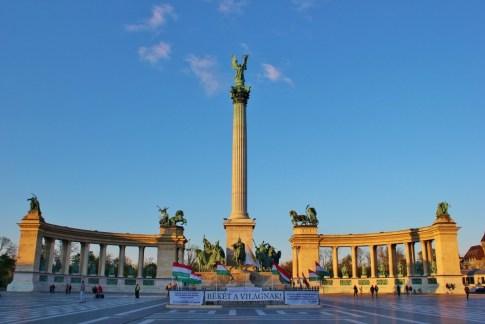Budapest, Hungary Heroes' Square Monument JetSettingFools.com