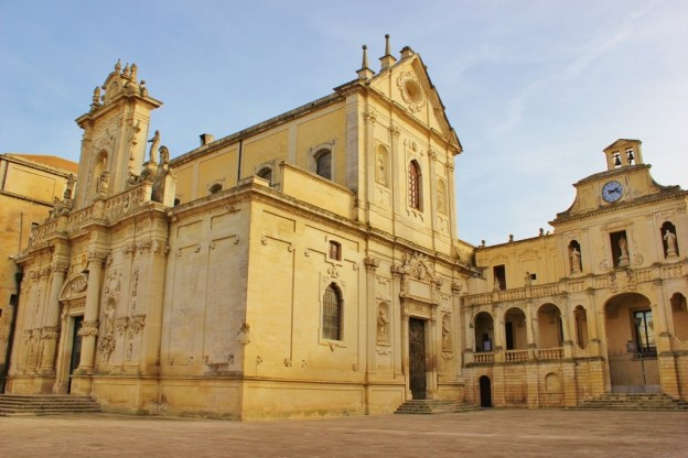 Standing in the Piazza del Duomo is a popular thing to do in Lecce, Italy
