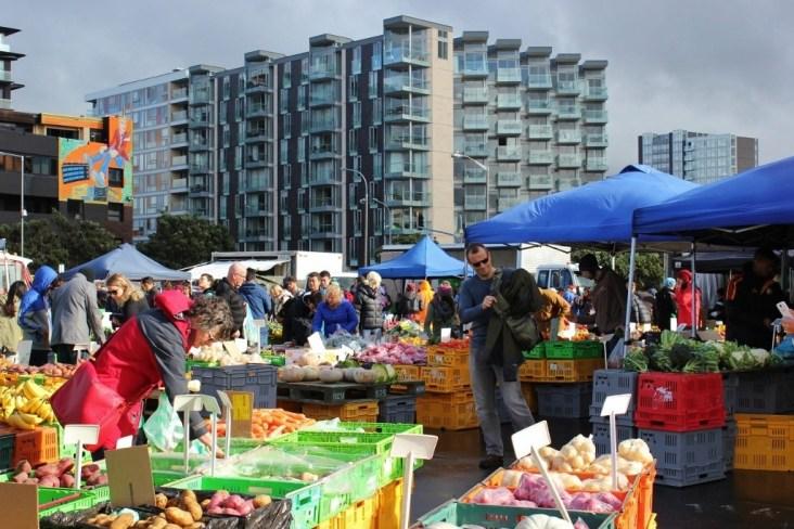 Vendors at the Sunday Farmers Market, Wellington, New Zealand