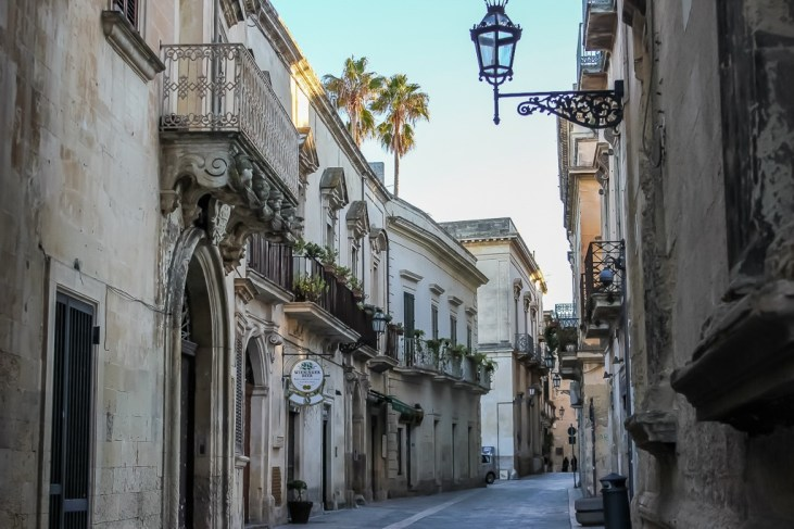 Picturesque street in Lecce, Italy