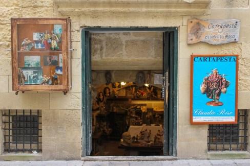 Paper Mache artist gallery in Lecce, Italy