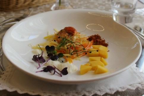 Baked Scallop with mango, Proteus Restaurant, Postojna Cave, Slovenia