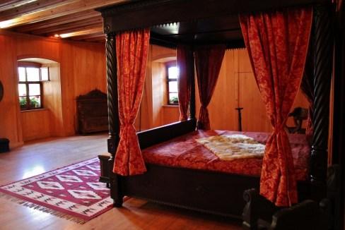 Bedroom inside Predjama Castle, Slovenia