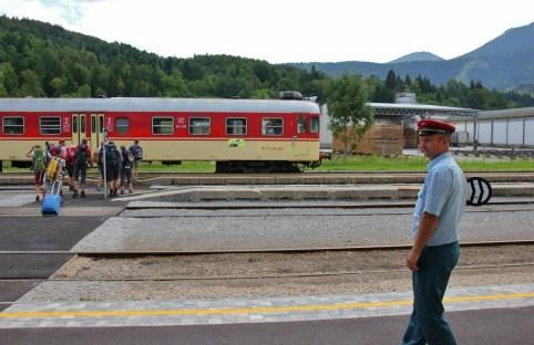 Scenic train in Slovenia