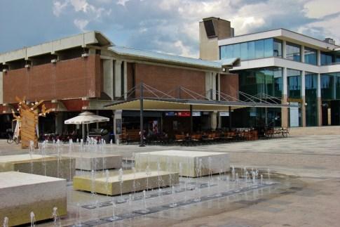 Fountain on Square in Nova Gorica, Slovenia
