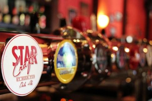StarCraft and local Taps at Beer Pub, Kranj, Slovenia