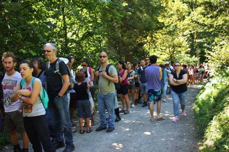 Ticket Entrance long Line to Vintgar Gorge