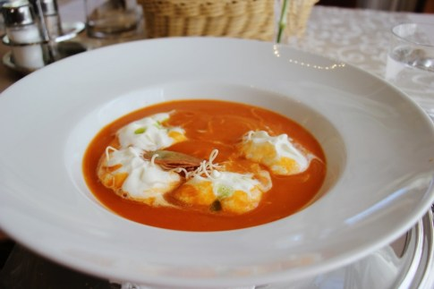 Tomato Soup at Proteus Restaurant near Postojna Cave, Slovenia
