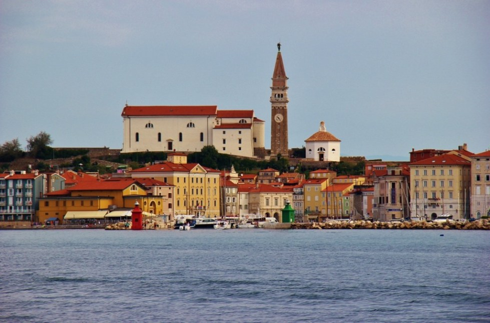 Entering the harbor in Piran, Slovenia