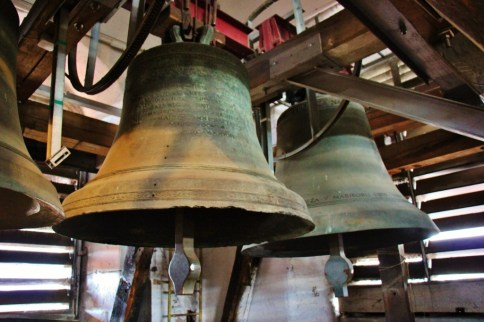 Bells in the Watch Tower Steeple at Cathedral of St. John the Baptist in Maribor, Slovenia