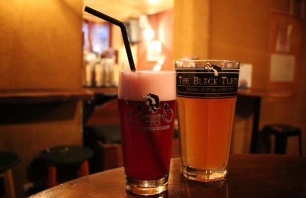 Craft beers at The Black Turtle craft beer bar in Belgrade, Serbia