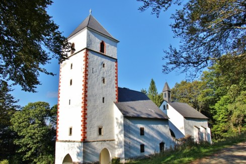 Church of St. Bolfenk on trail on Pohorje Mountain in Maribor, Slovenia