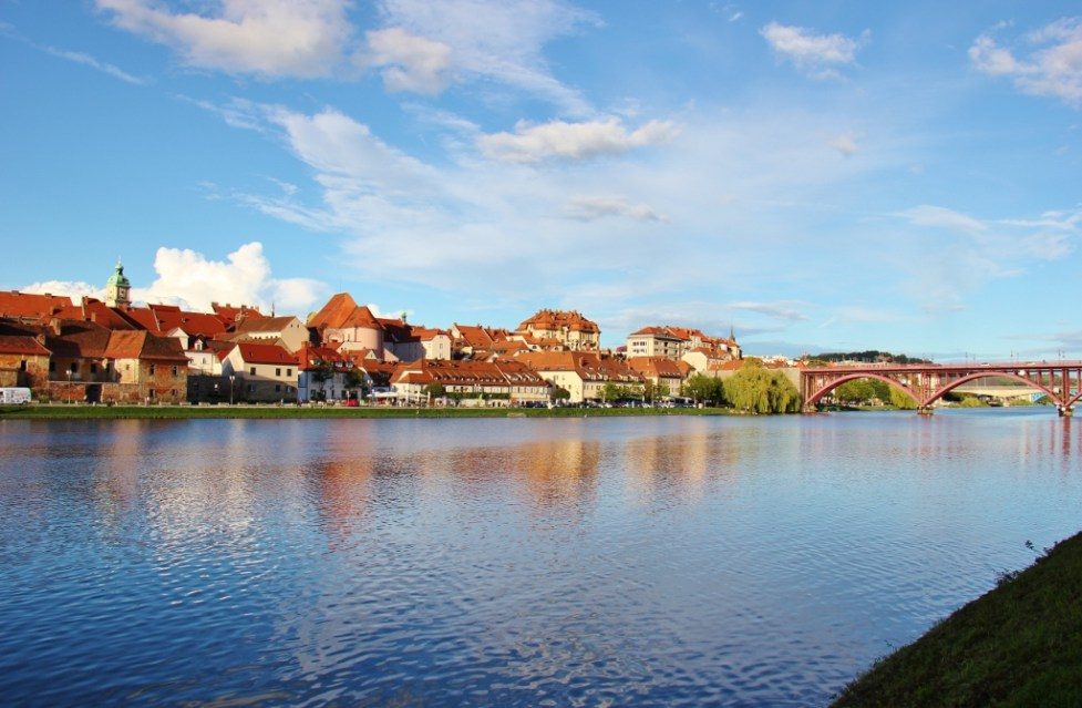 Lent District on Drava River Bank in Maribor, Slovenia