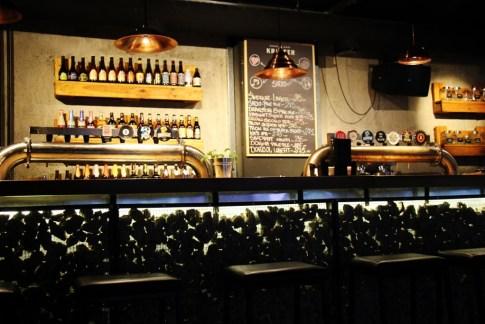 The bar at Krafter craft beer bar in Belgrade, Serbia