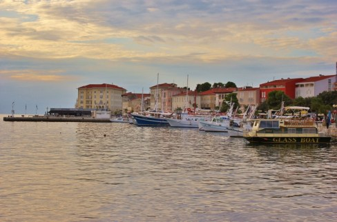 Boats in harbor at Porec, Istria, Croatia