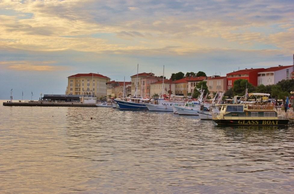 Boats in harbor at Porec, Istria, Croatia