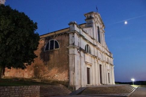 St. Euphemia Church at night, Rovinj, Istria, Croatia