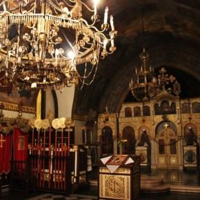 Bullet Shell Chandelier inside Ruzica Church in Belgrade, Serbia