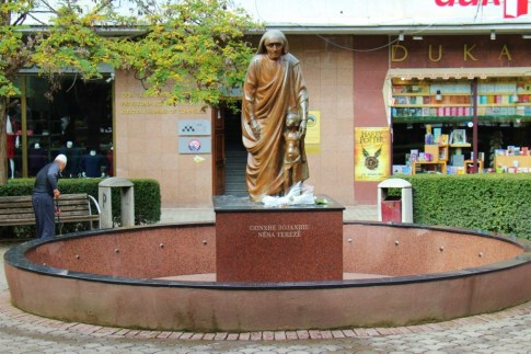 Statue of Mother Teresa on Mother Teresa Boulevard, Prishtina, Kosovo