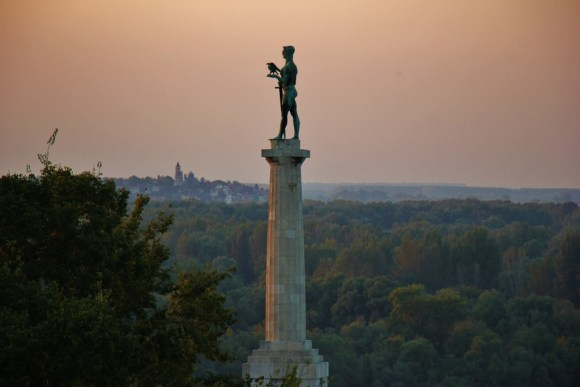 The Victor Monument at Sunset, Belgrade, Serbia