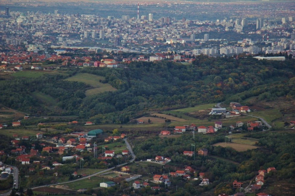 Belgrade city views from Avala Tower, Belgrade, Serbia