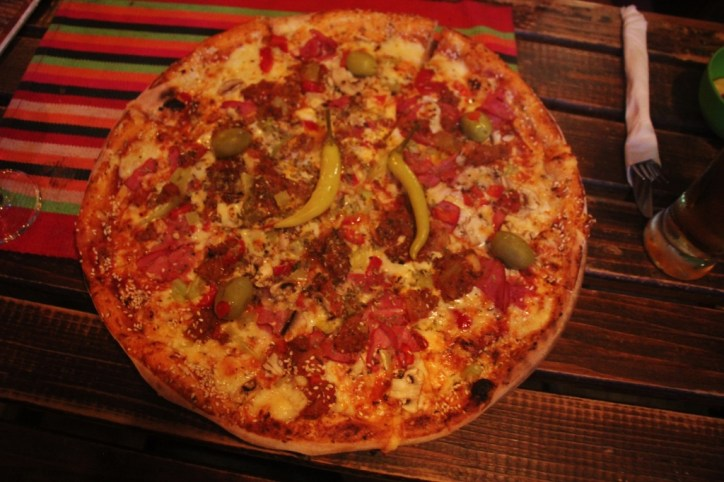 Pizza at Vintage Pizza in Prizren, Kosovo