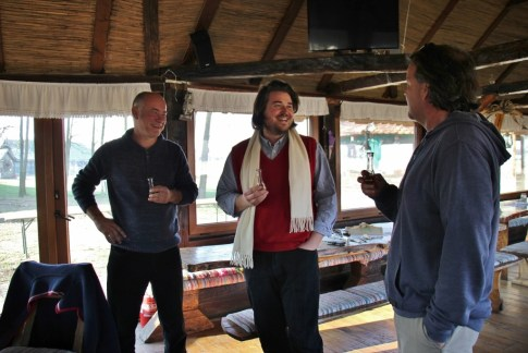 Welcome drink with Goran, owner of Orlov Put Eco Farm
