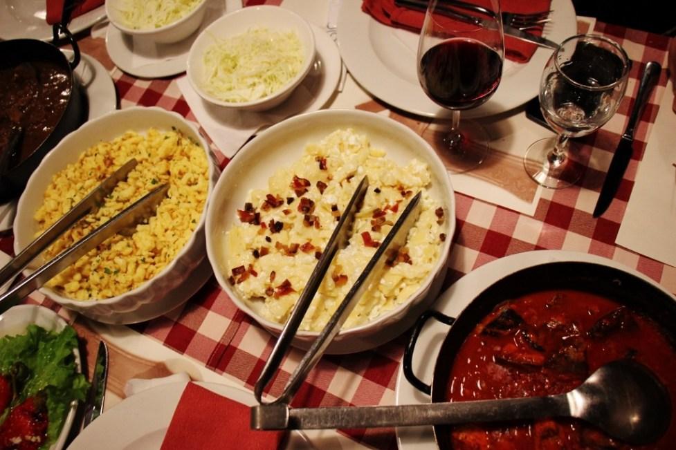 Catfish stew and homemade pasta at Josic Winery