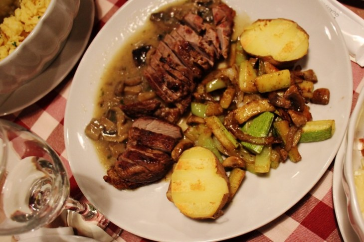 Roasted duck and vegetables at Josic Winery near Osijek, Croatia