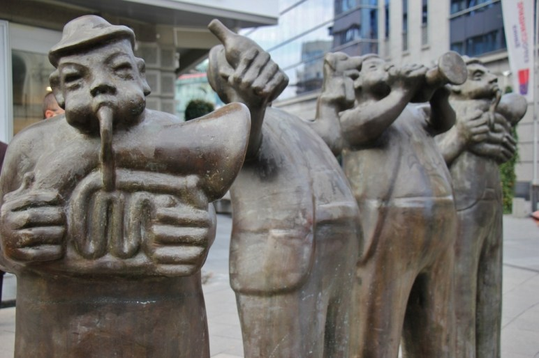 Statue of Jolly Musicians, Skopje, Macedonia