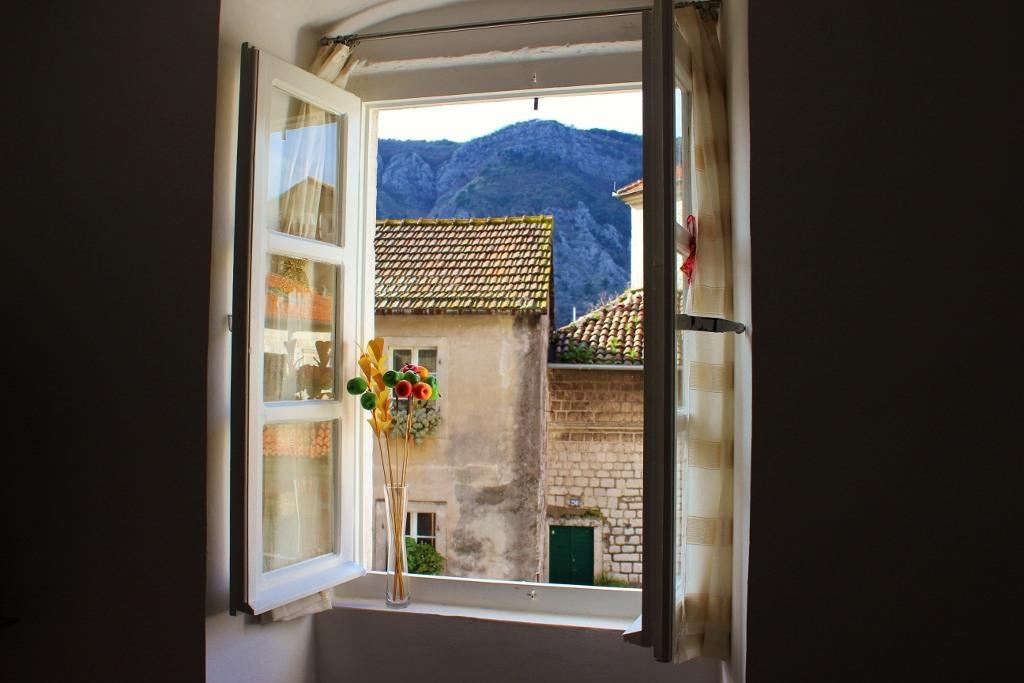 Looking through a window in Kotor, Montenegro