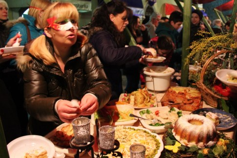 Winter Karneval food festival in Kotor, Montenegro