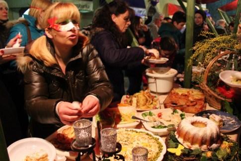 Winter Karneval food festival in Kotor, Montenegro