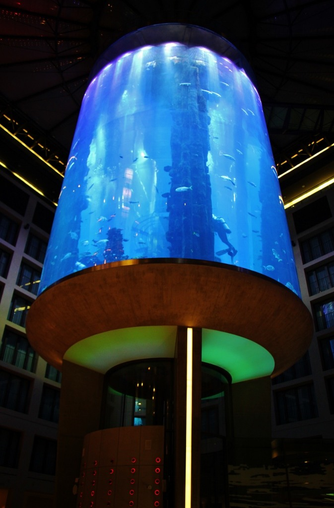 Radisson Blu AquaDom aquarium in lobby in Berlin, Germany