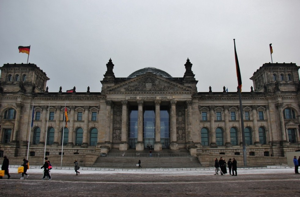 Bundestag Reichstag Building and glass dome in Berlin, Germany