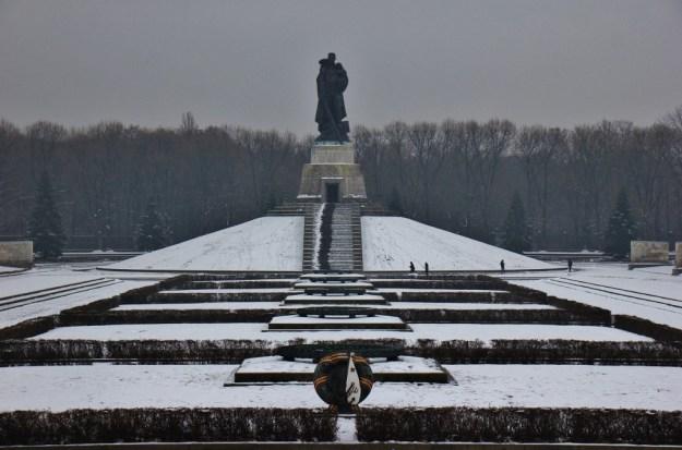 Statue at Soviet War Memorial at Treptower Park in Berlin, Germany