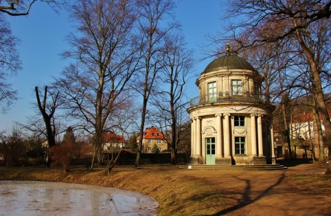 Old English Pavilion at Pillnitz Schloss Castle Park near Dresden, Germany